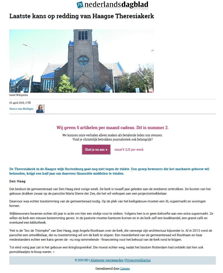 Artikel ND Theresiakerk