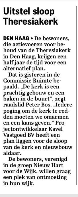 Kort bericht Telegraaf